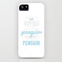 Happiness Penguin Jackass Emperor Short Legged Birds Antarctic Flippers Aquatic Gift iPhone Case