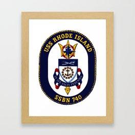 USS RHODE ISLAND (SSBN-740) PATCH Framed Art Print