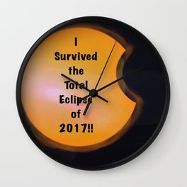 I Survived the Total Eclipse Wall Clock