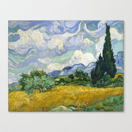 Van Gogh, Wheat Field with Cypresses, 1889 Canvas Print