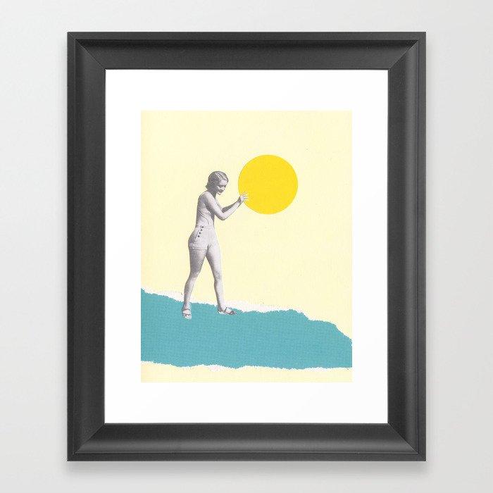 She Caught the Sun Framed Art Print