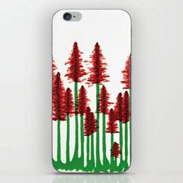 red forest iPhone Skin