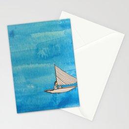 Liz on a Boat Stationery Cards