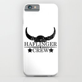 Haflinger crew wild west emblem black iPhone Case