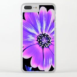 Night Daisy Clear iPhone Case
