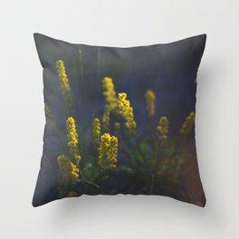 Yukon Wildflowers Throw Pillow
