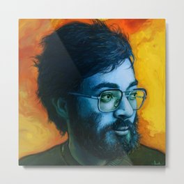 Asian Dude with Glasses Metal Print