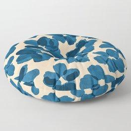 Deep Blue Flowers Floor Pillow