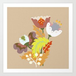 Dreaming Flowers Art Print