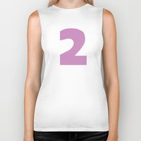 number Biker Tanks featuring Number 2 by Project M