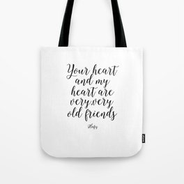 Printable Art,Hafiz Quote,Gift For Friend,Friendship,Wall Art,Quote Prints,Inspirational Quote Tote Bag