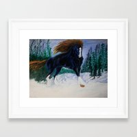 winter soldier Framed Art Prints featuring winter soldier by mark45xxx