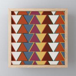 Ethnic nordic colorful print Framed Mini Art Print