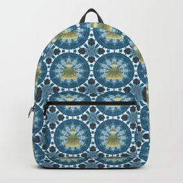 Golden Buddha Mandala (blue) Backpack