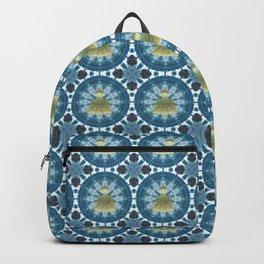 Golden Buddha Mandala (blue) Backpack