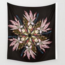 Flemish Floral Mandala Wall Tapestry