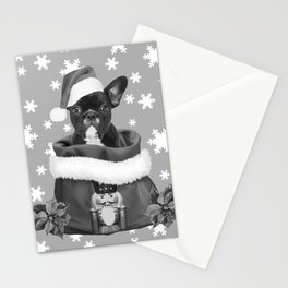French Bulldog Santa Claus - Christmas Nutcracker Bag Stationery Cards