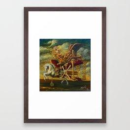 Flight of the Byplaneacorn Framed Art Print
