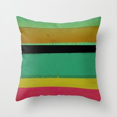 Stripes on Aqua Throw Pillow