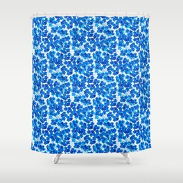 Forget-me-not Flowers White Background #decor #society6 #buyart Shower Curtain