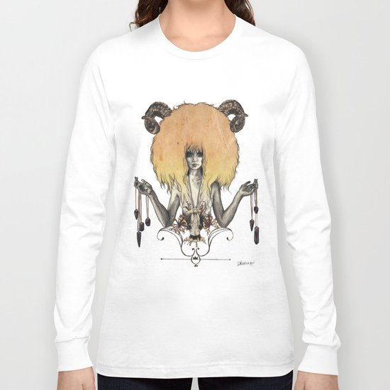 A R I E S - Coloured Long Sleeve T-shirt