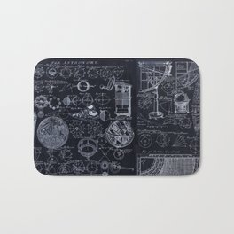 Astronomy Blueprint Diagrams Bath Mat