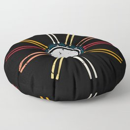 Retro Musician Drums Floor Pillow