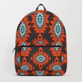 Ethnic shapes on dark background Backpack