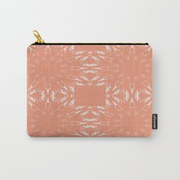 Peach Color Burst Carry-All Pouch