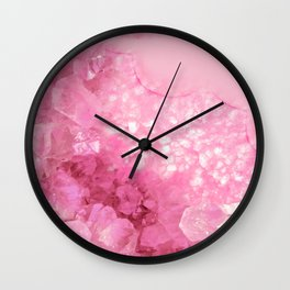 Sweet Pink Crystals Wall Clock