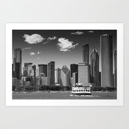 CHICAGO Skyline | Monochrome Art Print