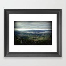 Tasmania's rural & mountainscape Scenery Framed Art Print