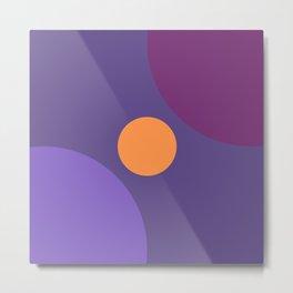 Ultra Violet 2018 Variation and Harmony Abstract Minimal Art Metal Print