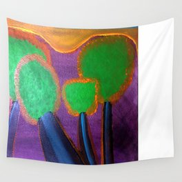 Tree Puffs Wall Tapestry