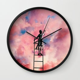 Cloud Painter Wall Clock
