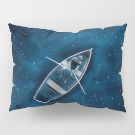 Row Boat in Space Pillow Sham