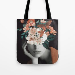 WOMAN WITH FLOWERS 7 Tote Bag