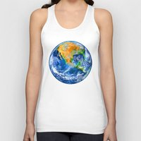 earth Tank Tops featuring Earth by Head Rubble
