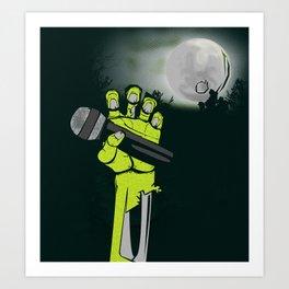 Mic of The Living Dead Art Print