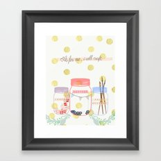 As for me... Framed Art Print
