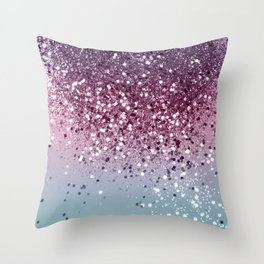Unicorn Girls Glitter #6 #shiny #pastel #decor #art #society6 Throw Pillow