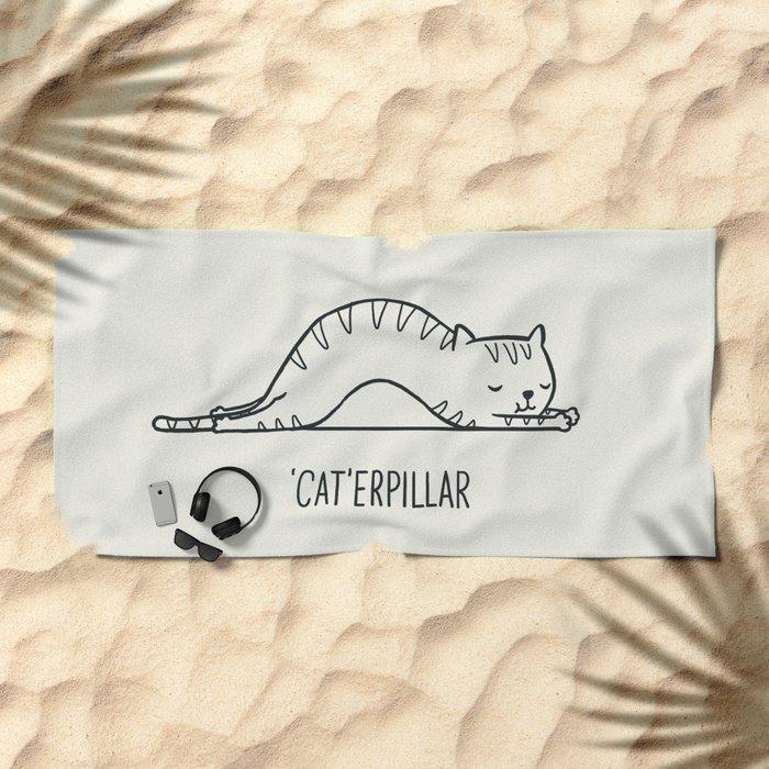 Cat-erpillar Beach Towel