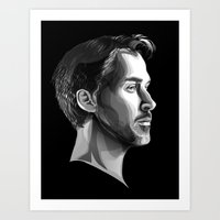 ryan gosling Art Prints featuring Ryan Gosling by anomaly alice