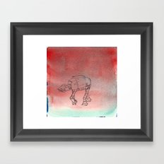 AT-AT migraine Framed Art Print