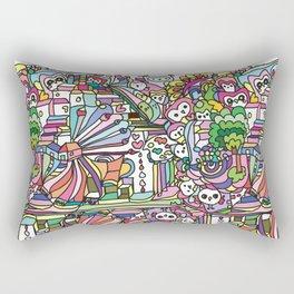 doodle owl village Rectangular Pillow