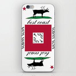 Best Coast By Avte Clothing. iPhone Skin