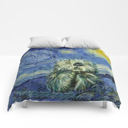 Starry Monterey Night (for Mikaela) Comforters