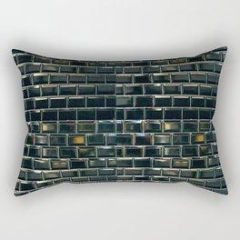 black tile contemporary gloss Rectangular Pillow