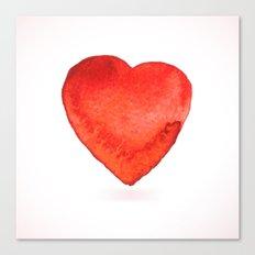 Watercolor heart Canvas Print