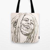 marley Tote Bags featuring Marley by Deelara